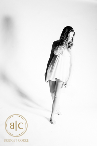 Beautiful Young Dancer High Key Photograph on White BAckground C
